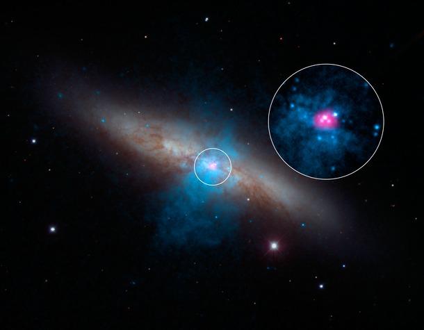 bright pulsar in M82
